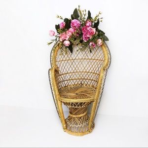 Miniature Rattan Peacock Chair
